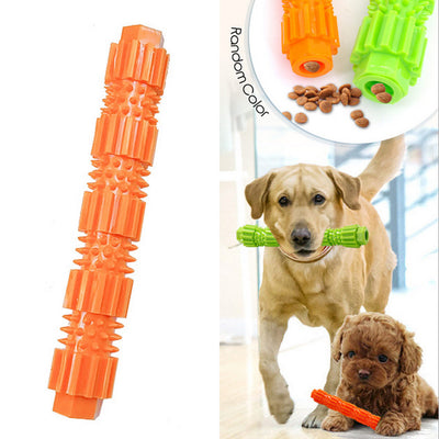 Pet Dog Toy TPR Bite-resistant Food Molar Stick Puzzle Training Bite Toy Can Put Snacks Dog Chew Toys For Small And Medium Breed
