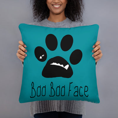 BooBooFace Throw Pillow designed by MacAi & Co Dog Lovers Pillow