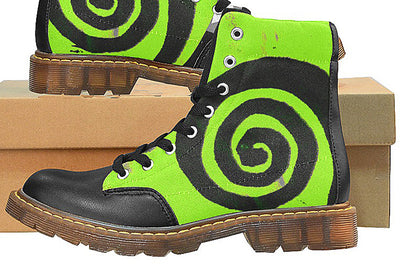 Outdoor Boots Green-Hand Designed by Bird Delaney Design Hiking Camping Biking Boots For Women