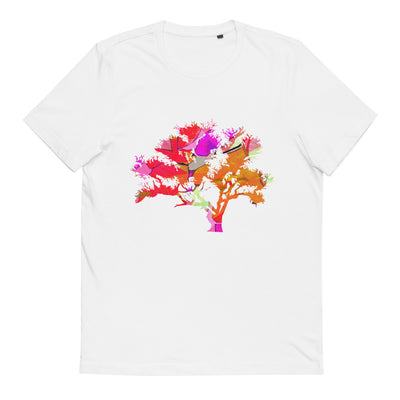 Unisex Organic Cotton T-Shirt Tree of Life Red 2 from MacAi & Co