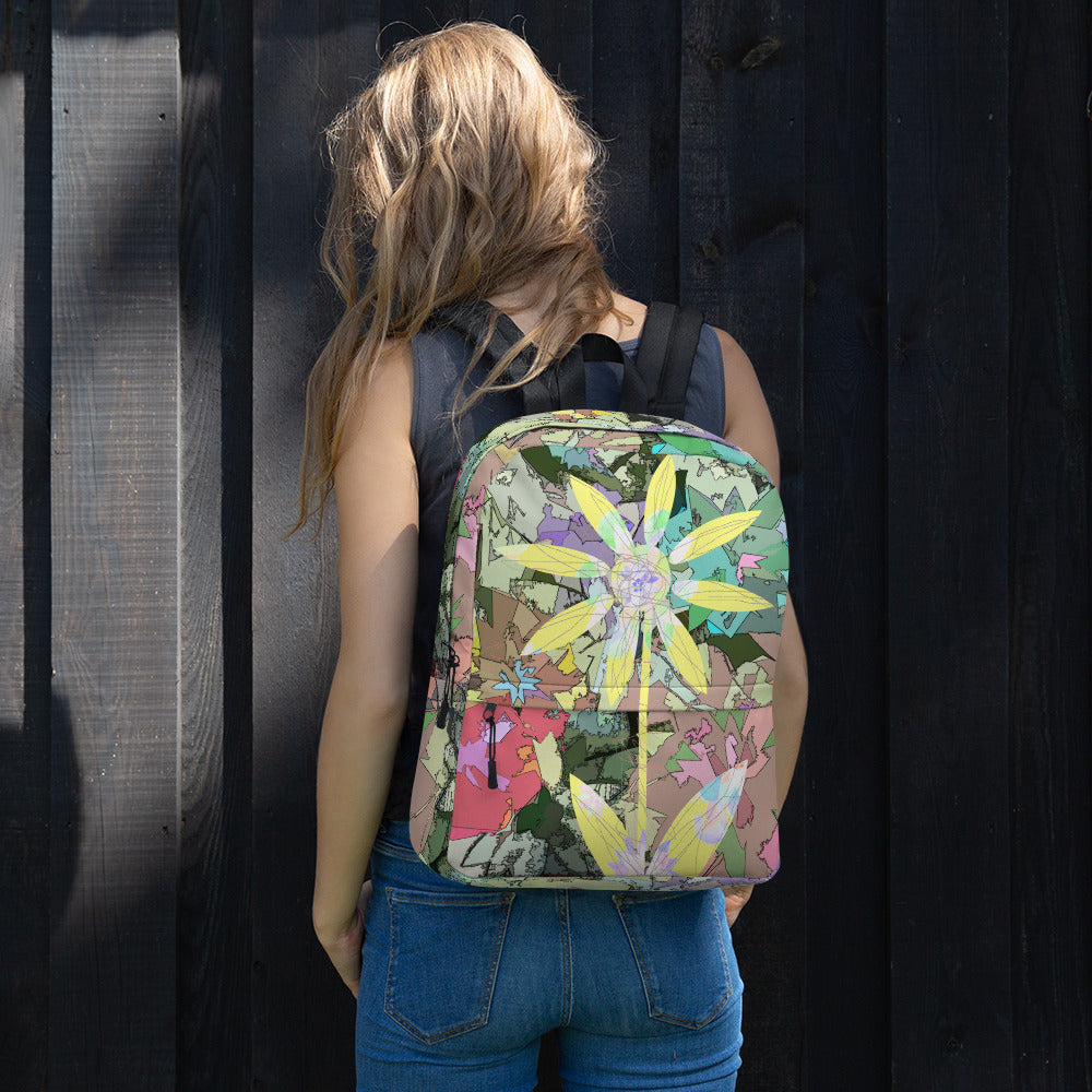 Pencil Flower Backpack from MacAi & Co for Travel and Outdoors Unisex