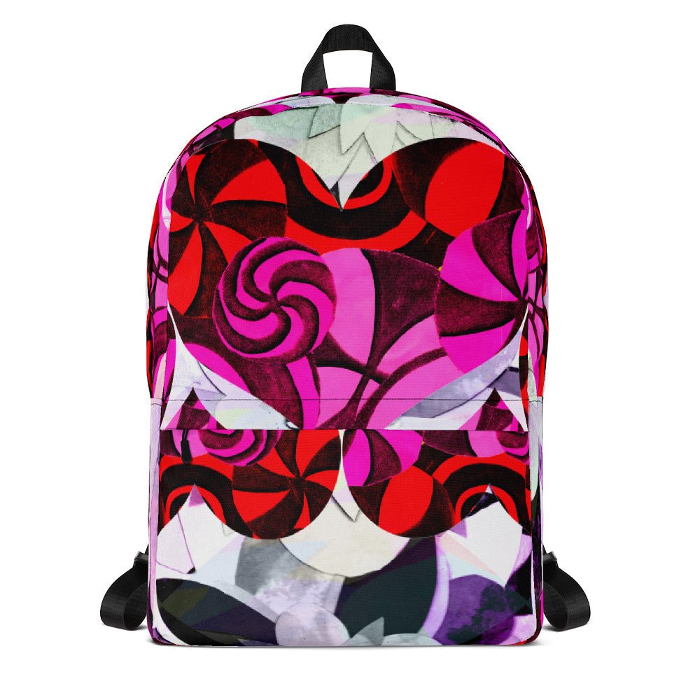 Red Hearts Backpack from MacAi & Co