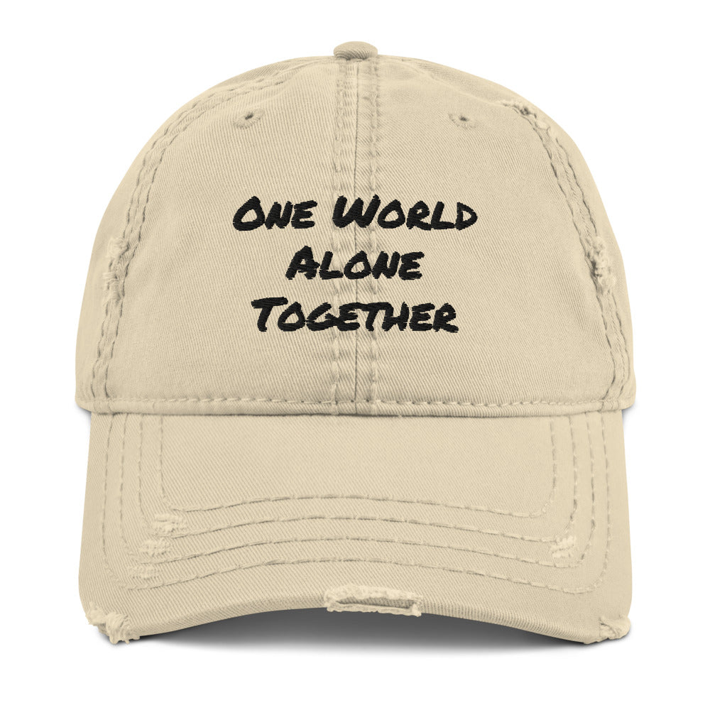 One World Alone Together Defeat Covid-19 from Finding Grateful Collection MacAi & Co Embroidered