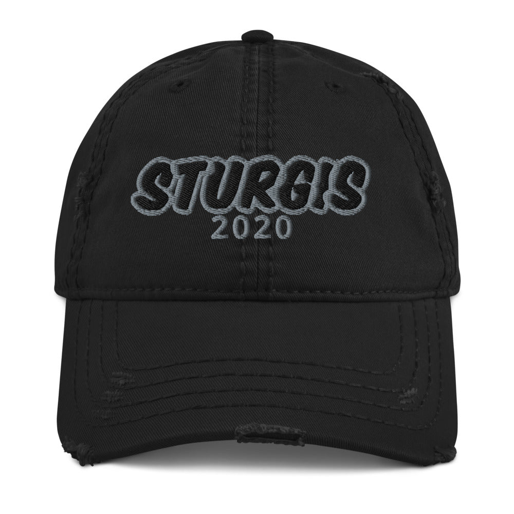 MacAi Distressed Hat Sturgis 80th Anniversary 2020 Motorcycle Rally Summer Bike Ride Outdoors