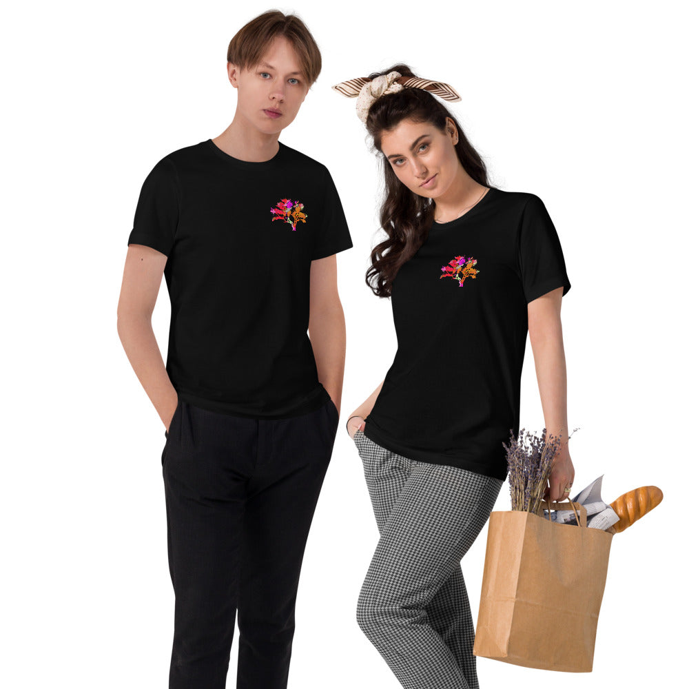 Unisex Organic Cotton T-Shirt Tree of Life Red from MacAi & Co