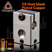 Laden Sie das Bild in den Galerie-Viewer, V6 Plated Copper Heatblock