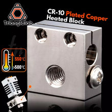 Laden Sie das Bild in den Galerie-Viewer, CR-10 Plated Copper Heatblock