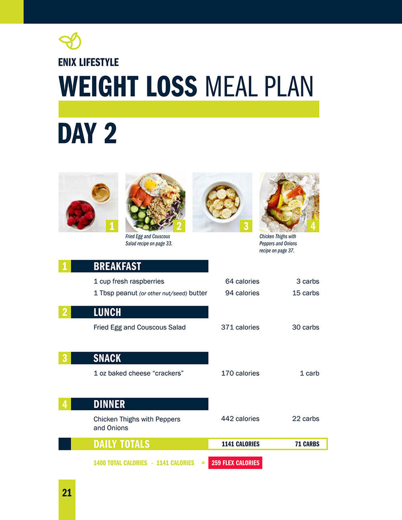 Enix Lifestyle Weight Loss Meal Plan | E-Book