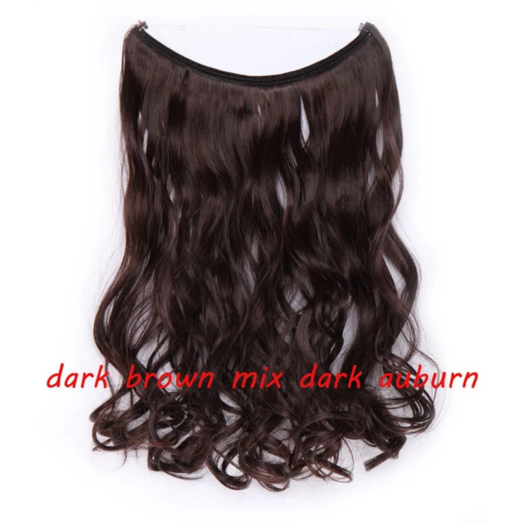 Invisible Wire One Piece Halo Hair Extensions - Fresh Hair Extensions and Accessories