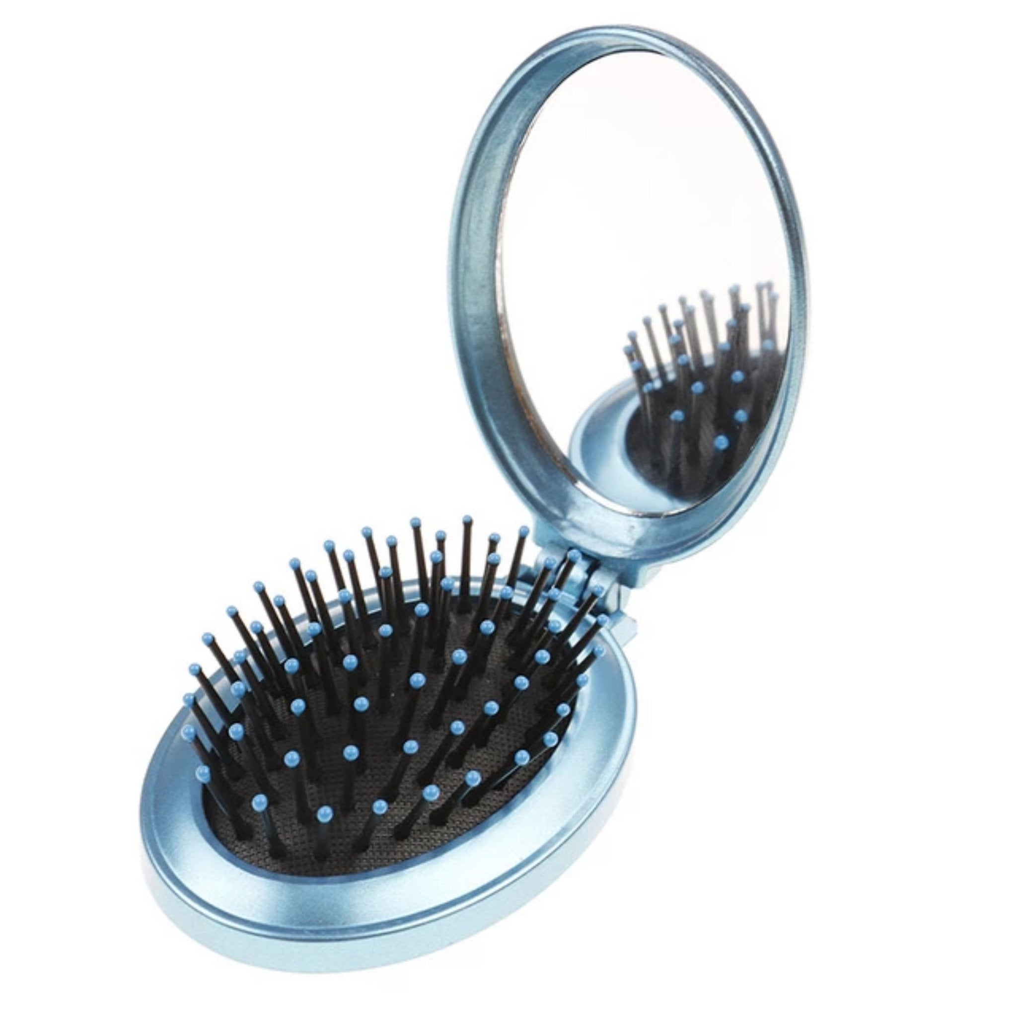 NEW Mini Portable Travel Massage Round Hair Brush - Fresh Hair Extensions and Accessories