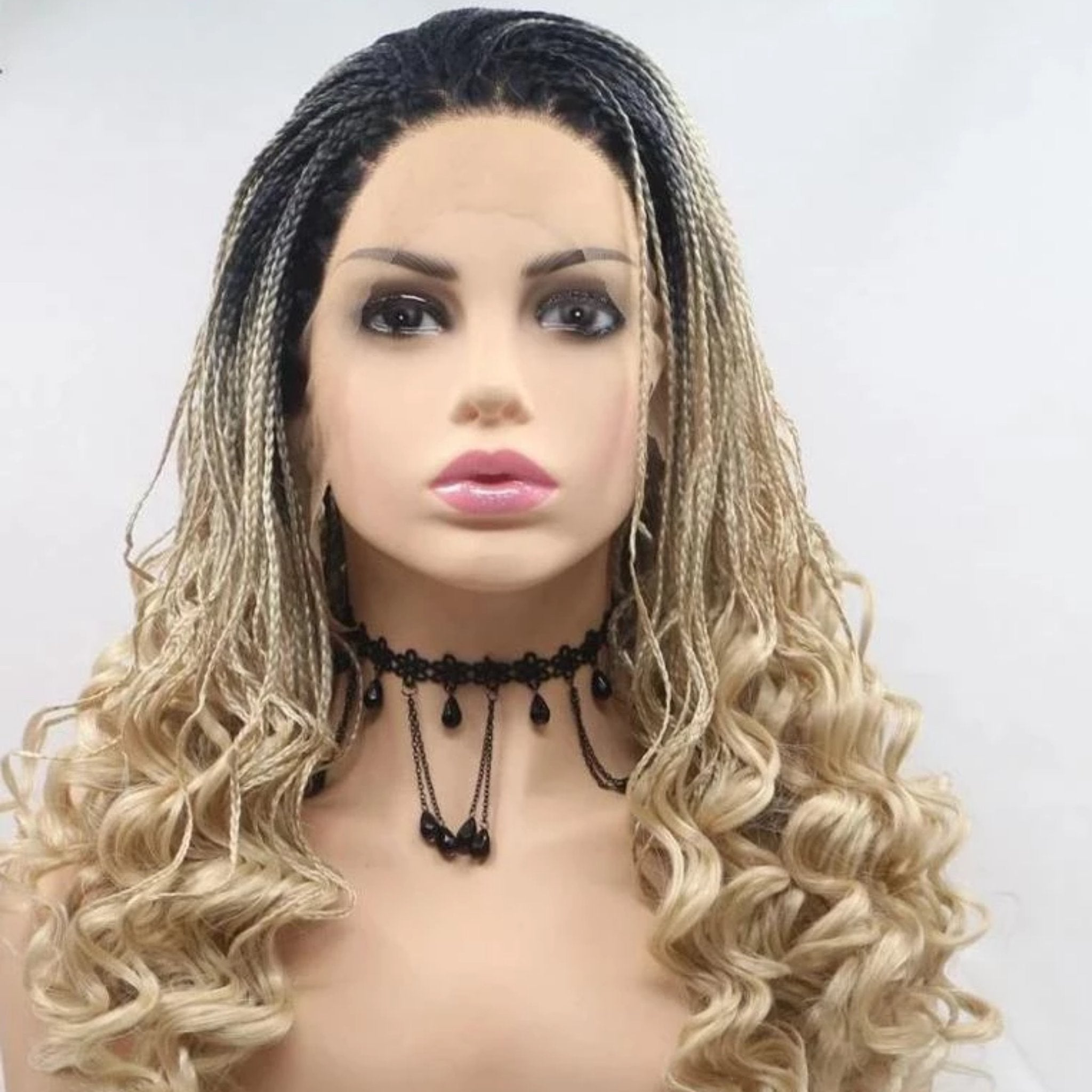 Ombre Braided Lace Front Wig