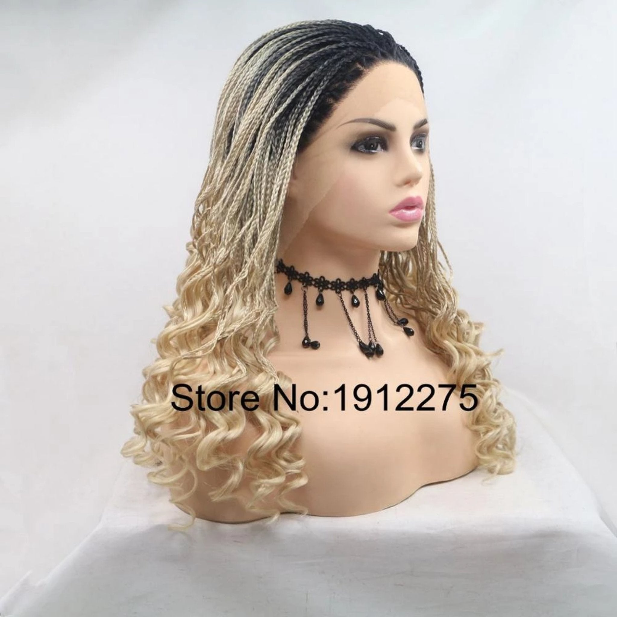 Ombre Braided Lace Front Wig - Fresh Hair Extensions and Accessories