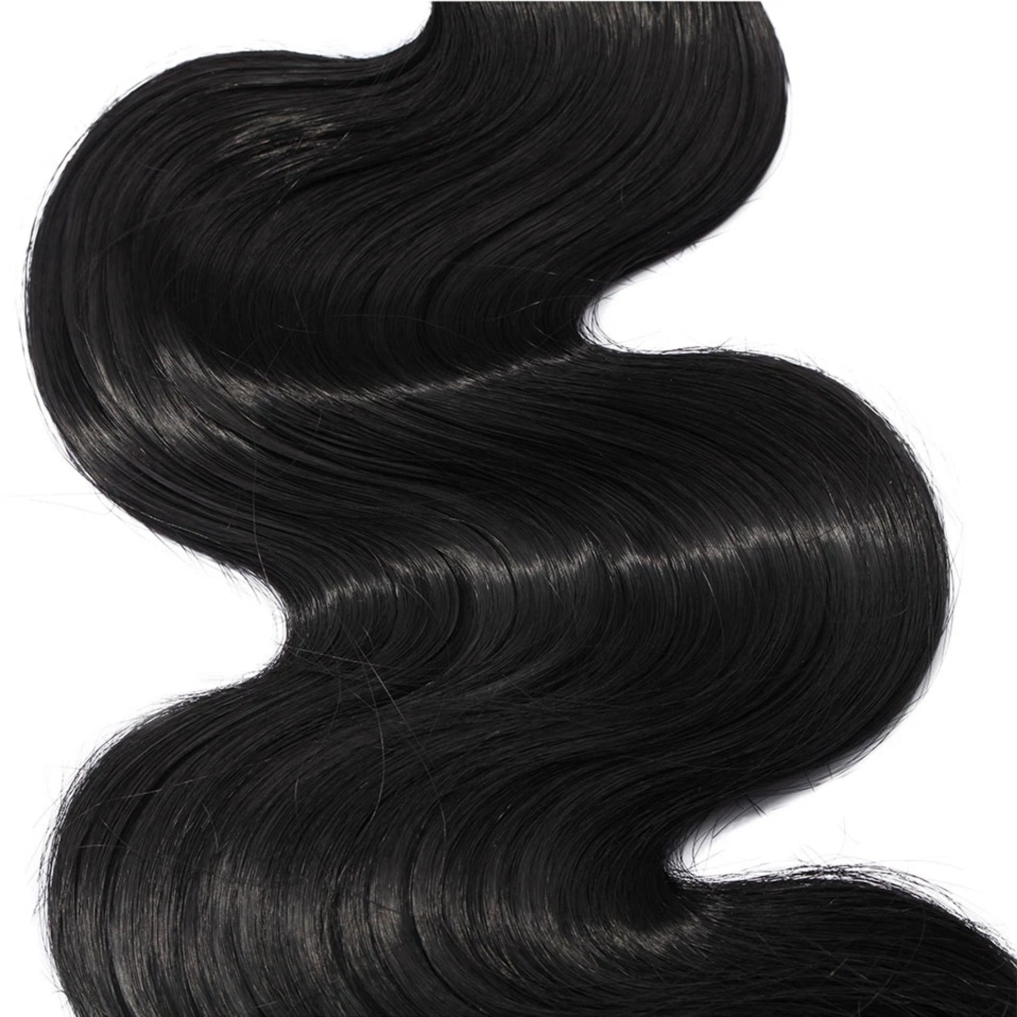 Wavy Natural Black Bundle Hair Extensions