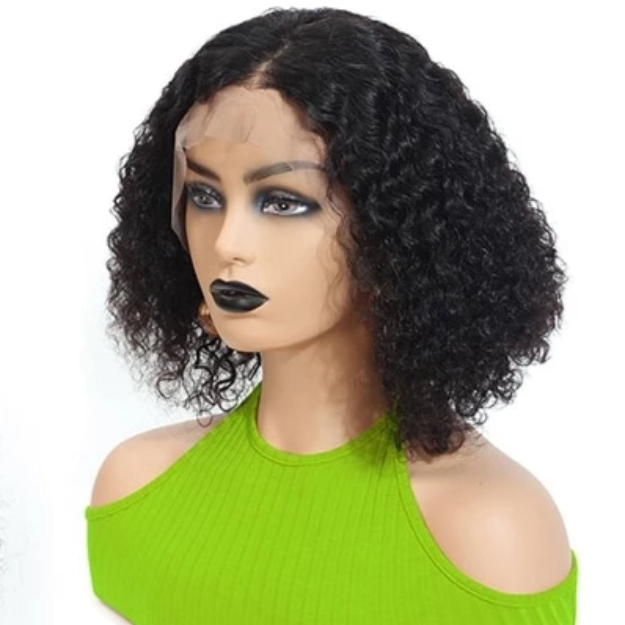 Peruvian Curly Lace Front Human Hair Wigs - Fresh Hair Extensions and Accessories