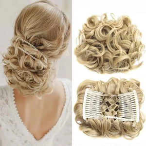 Elastic Rubber Band Net Curly Chignon