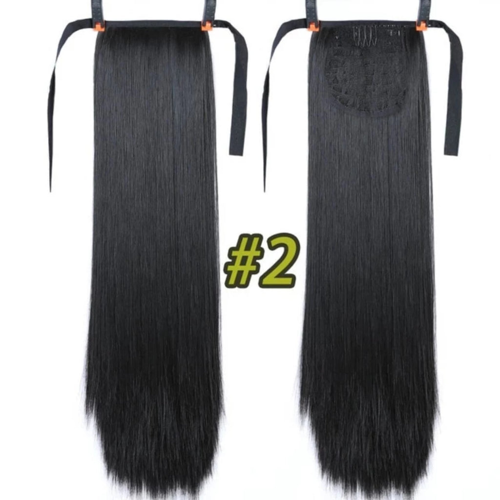 Super Long Straight Ponytail Clip In Hair Extensions