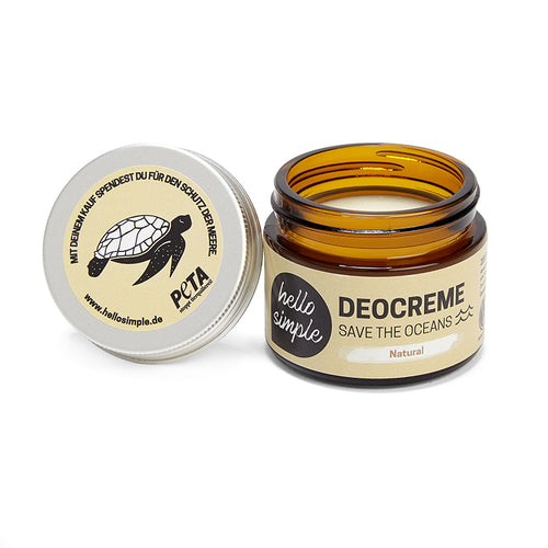 Hello Simple Deocreme Natural 50g