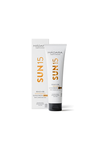 Mádara Beach BB Shimmering Sunscreen SPF15 100ml