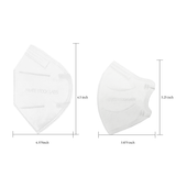 Petite KN95 Protective Mask - Monochrome Series - White (Pack of 5)