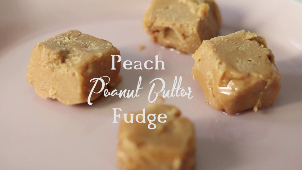Peach Peanut Butter Fudge