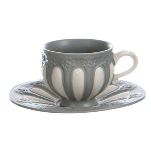 "Set 2 tazze caffè con piattino""La fenice"" collection - Blanc MariClò Cava de'Tirreni"