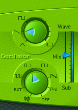 Waveforms or oscillators have different shapes and each shape creates a different kind of sound texture.