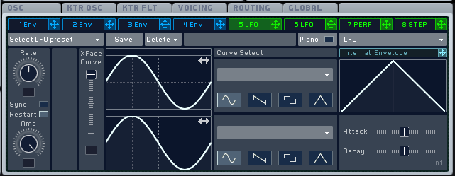 Sound design synthesis includes Frequency Modulation (FM), Wavetable, Subtractive and Additive synthesis.