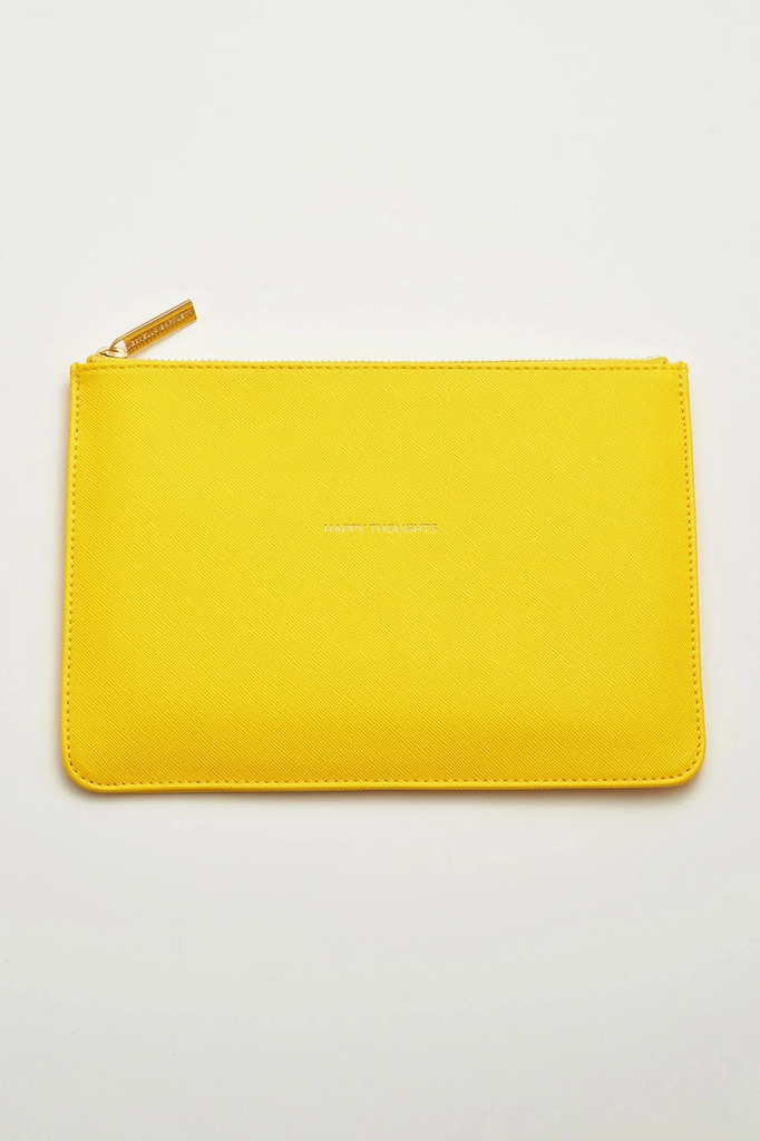The Happy Thoughts Pouch (Yellow)
