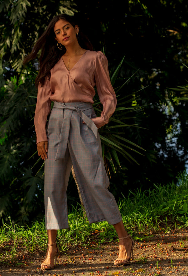 Check Bow Culottes