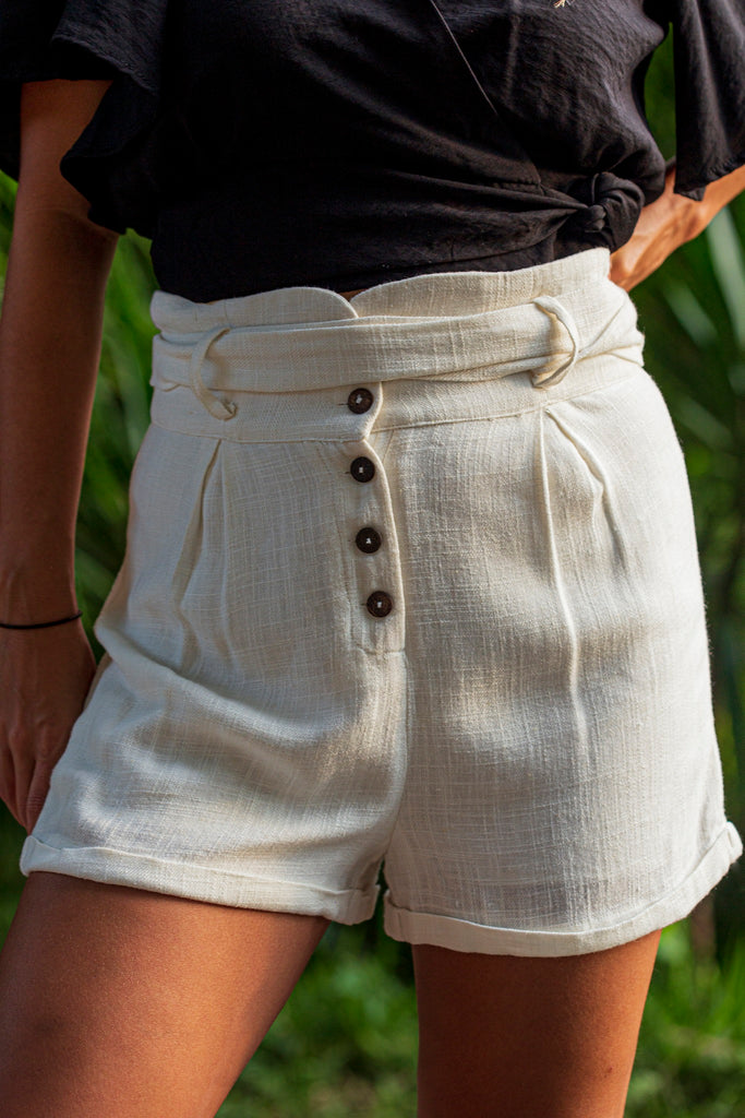 Raw Off White Shorts