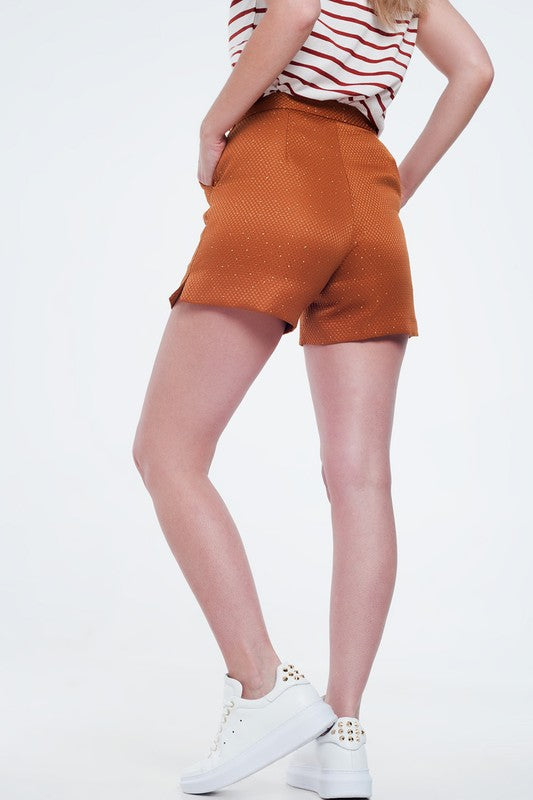 Bronze High Waist Shorts