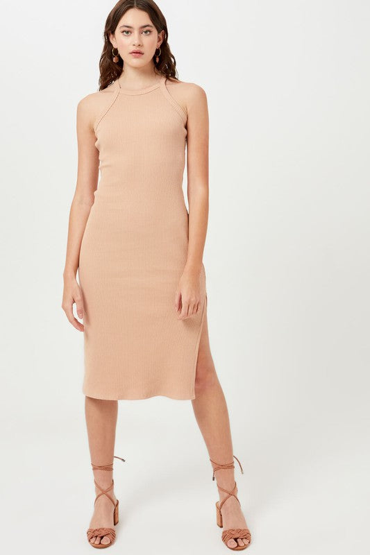 Daphne Ribbed Cotton Dress