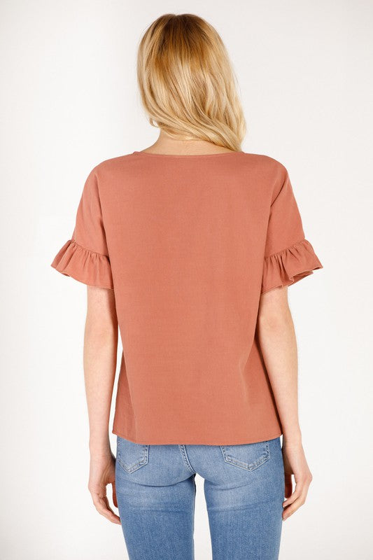 Nikki Terracota Top