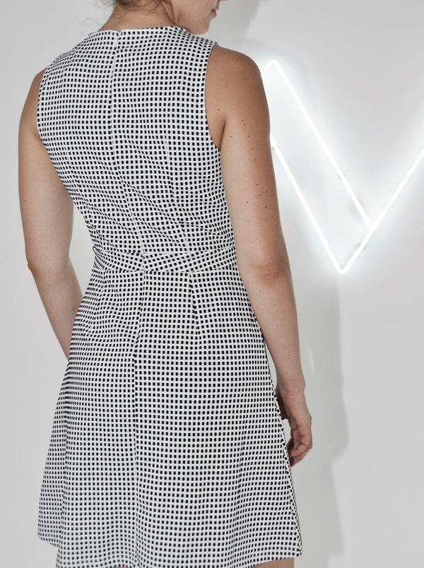 Check Cut Out Dress