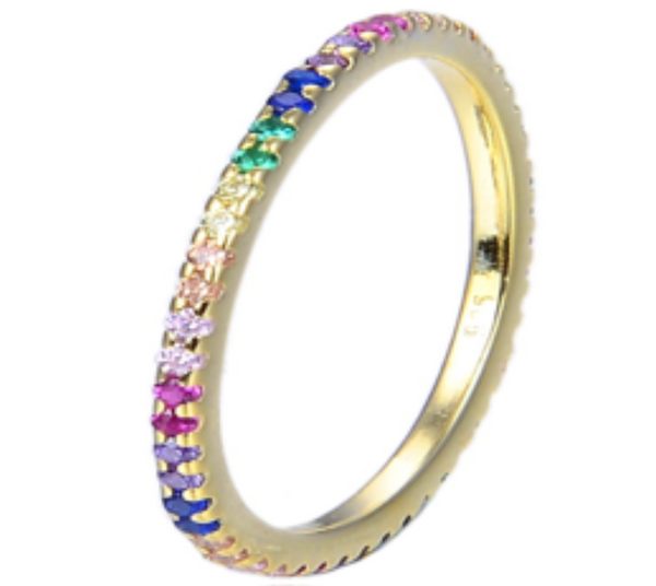 Multicolor Infinity Ring
