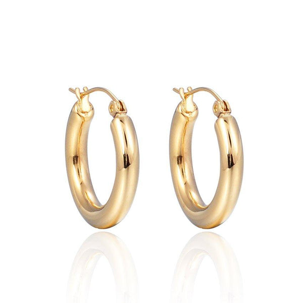 Every Day Plain Hoops (Gold)