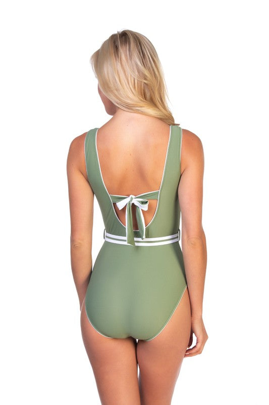 Mint Belted Swimsuit