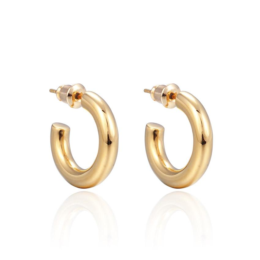 Small Plain Hoops (Gold)