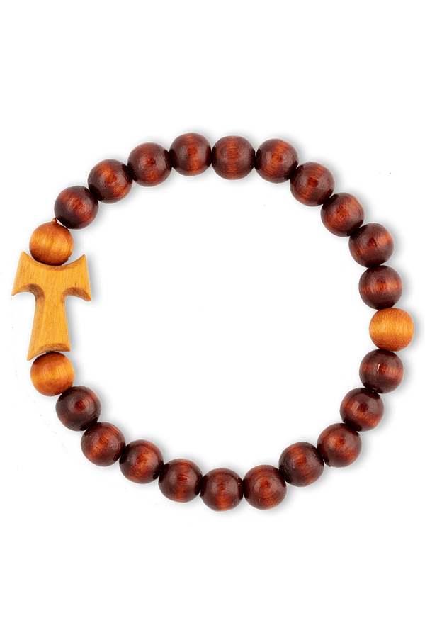 Tau Bracelet: Dark Wood Beads