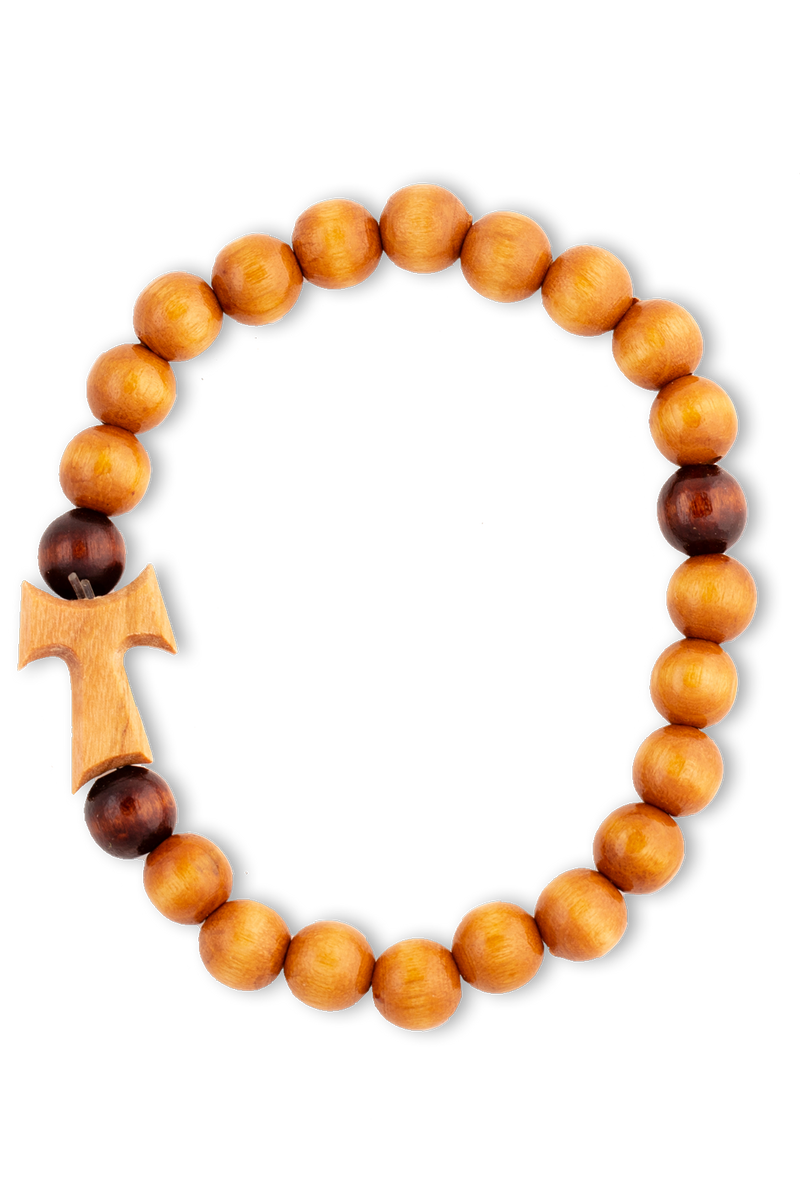 Tau Bracelet: Light Wood Beads