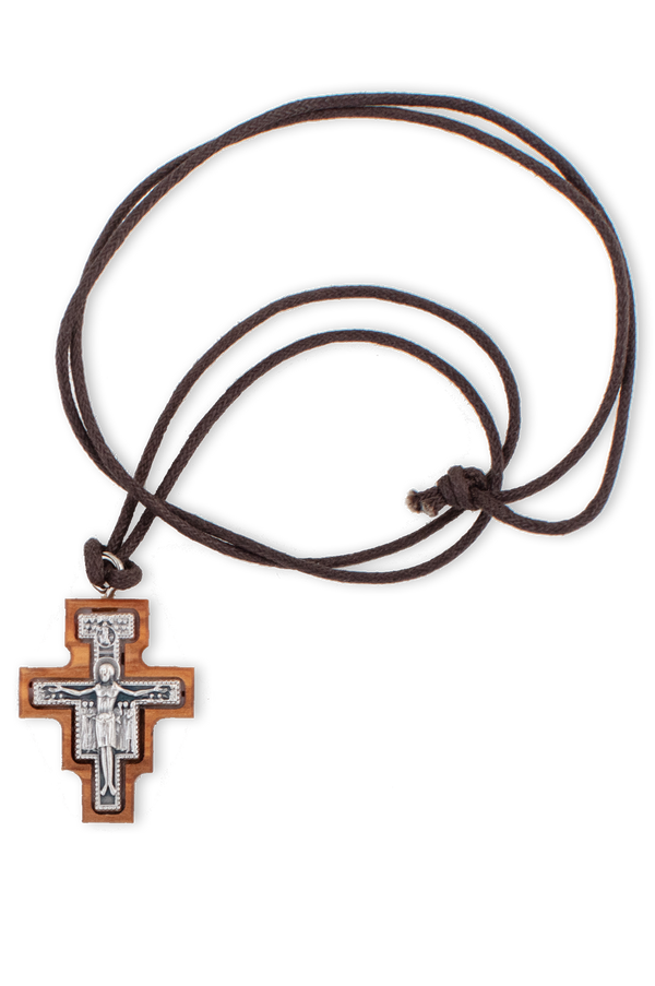 San Damiano Cross With Silver Corpus 1.5""