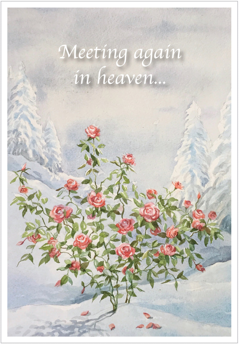 The Roses In Winter Card