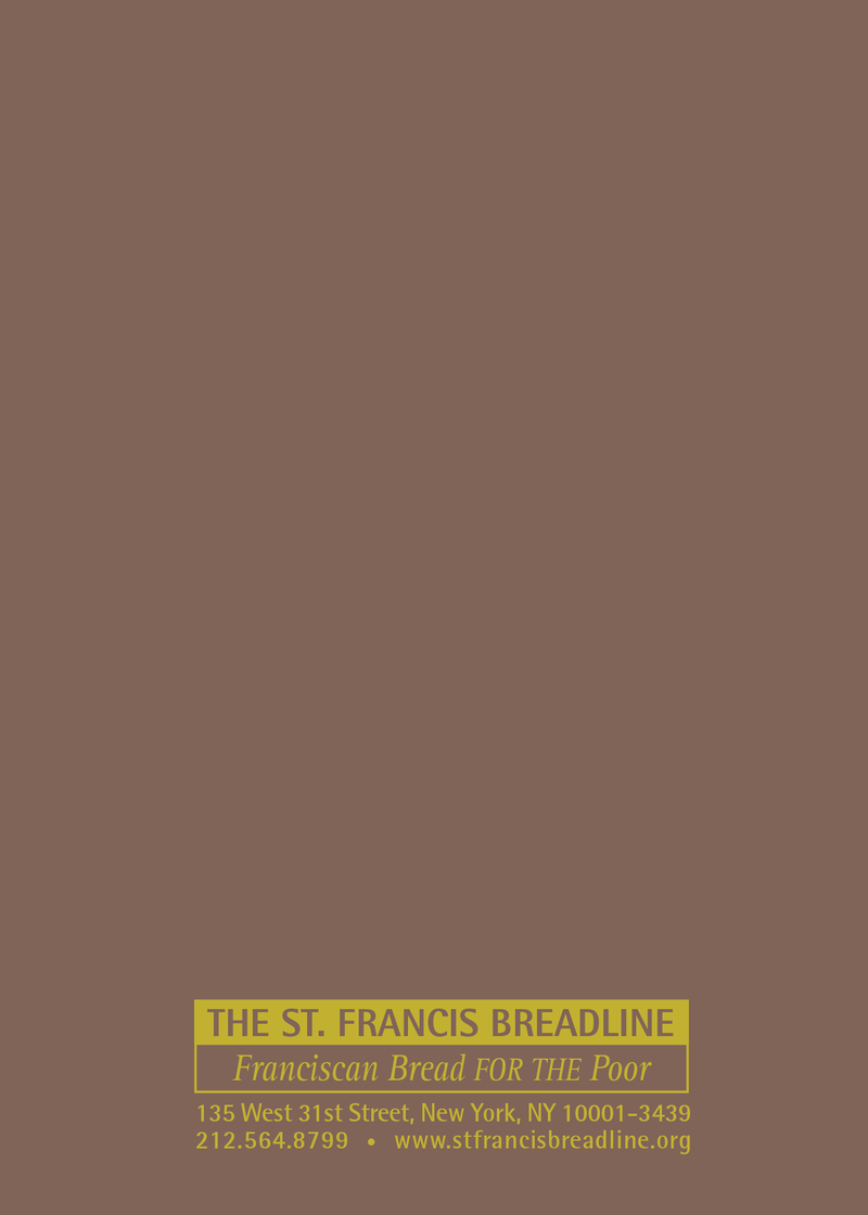 St. Francis Breadline:<br> Deceased Card
