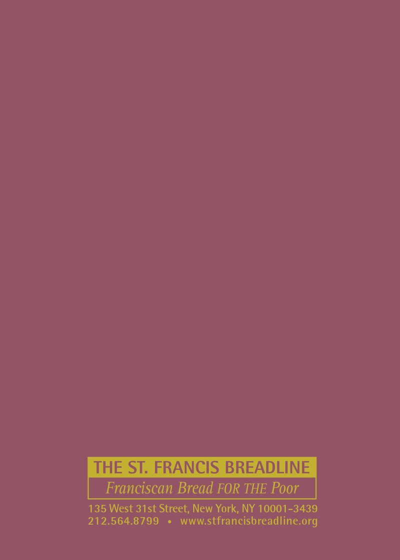 St. Francis Breadline: <br> Deceased Secular Card