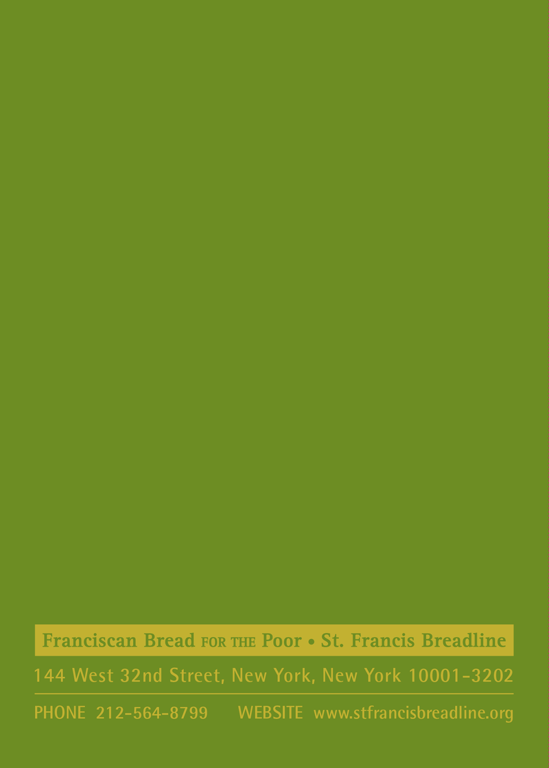 St. Francis Breadline: Easter Card