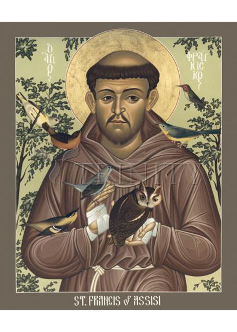 St. Francis of Assisi and <br> Holy Card
