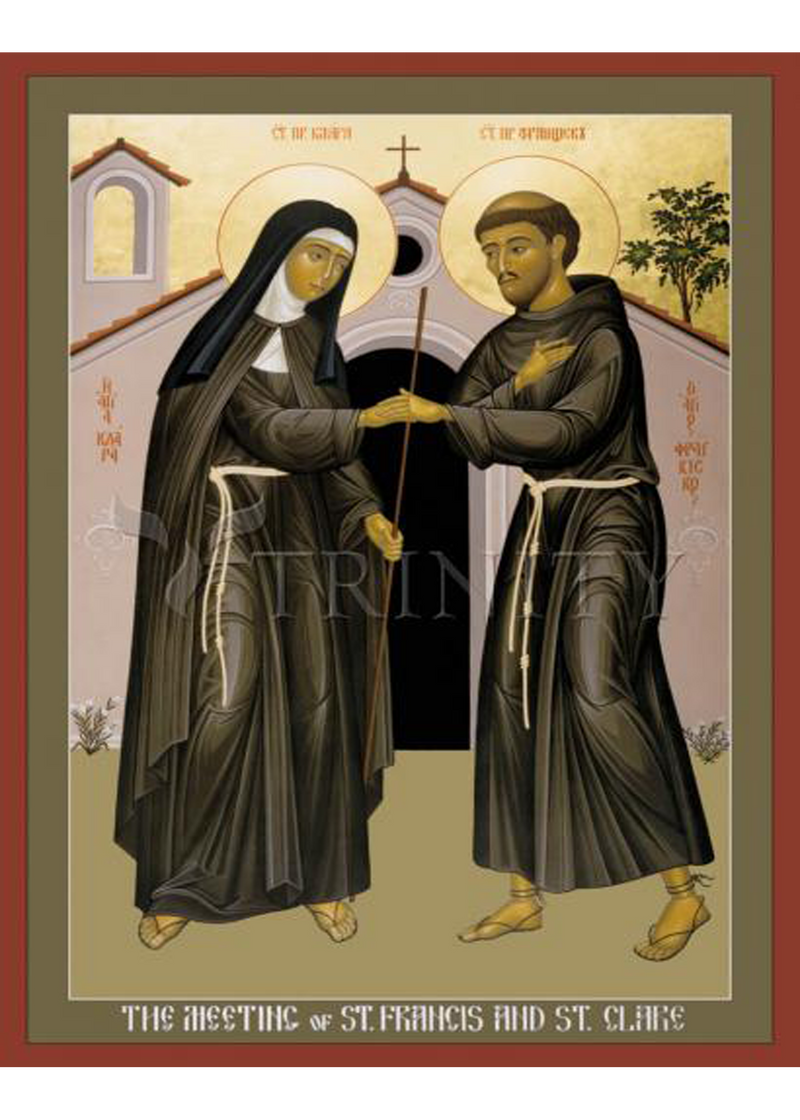 Meeting of St. Francis <br> and St. Clare Holy Card