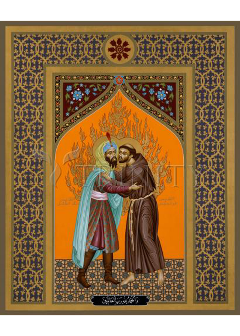 St. Francis and the Sultan Holy Card