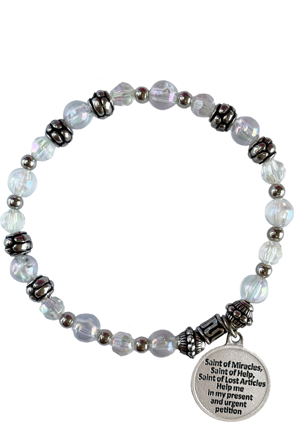 St. Anthony Italian Beaded Charm Bracelet
