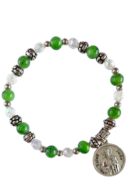 St. Jude Italian Beaded Stretch Bracelet